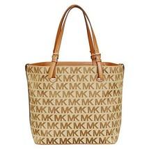 MICHAEL Michael Kors Jet Set Grab Bag (Beige/Ebony/Luggage) - $248.00