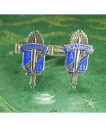 Antique Alpha Omega Cufflinks STERLING RARE cuff links Fraternity Vintag... - $245.00