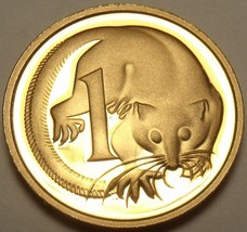 Cameo Proof Australia 1989 Cent~Feather-Tailed Glider~100,000 Minted~Fre... - $6.03