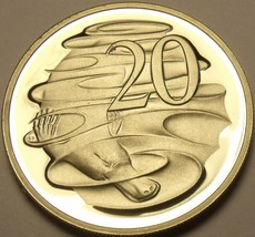 Cameo Proof Australia 1989 20 Cents~Only 67,000 Minted~Duckbill Platypus~Fr/Ship - $8.90