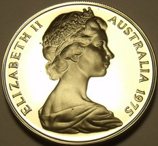 Rare Proof Australia 1975 10 Cents~Lyre Bird~23,000 Minted~Free Shipping - $9.00