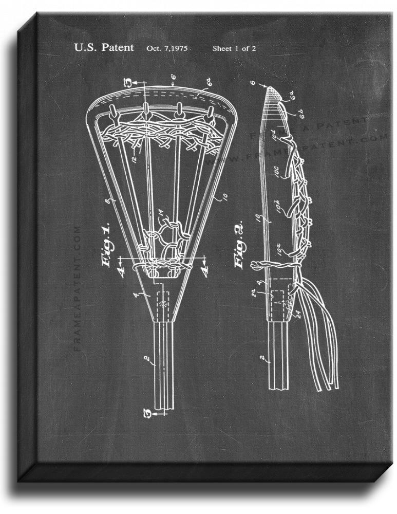 Primary image for Lacrosse Stick Patent Print Chalkboard on Canvas