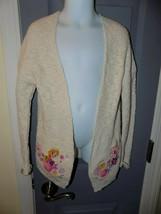 Disney Oatmeal Color Rapunzel Cardigan Sweater Size 5/6 Girl's EUC - $23.20