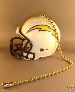SAN DIEGO CHARGERS LIGHT/FAN PULL & CHAIN  NFL FOOTBALL