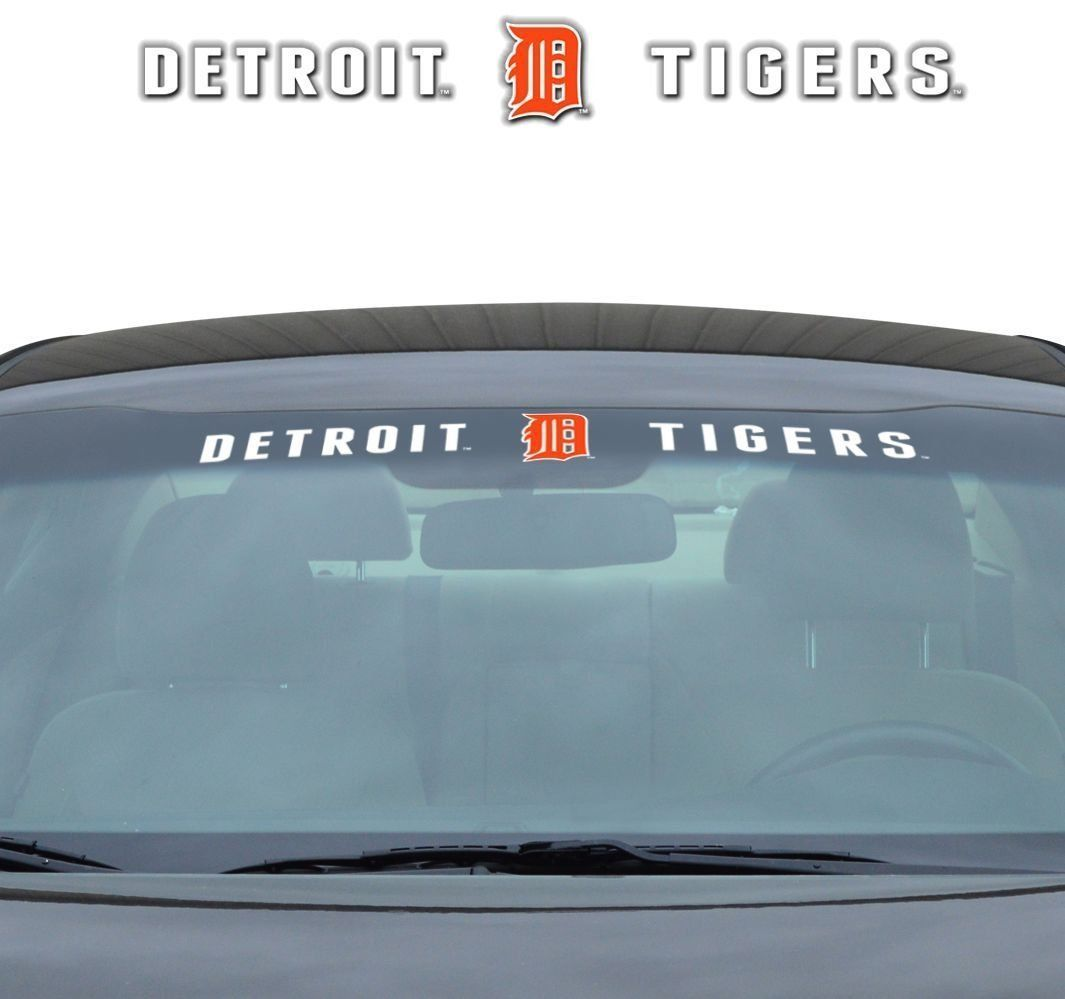 "DETROIT TIGERS 35"" X 4"" WINDSHIELD WINDOW DECAL CAR TRUCK MLB BASEBALL"