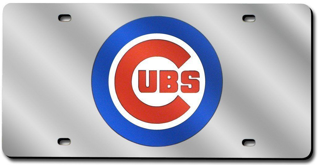 CHICAGO CUBS CAR AUTO LASER-CUT MIRROR LICENSE PLATE TAG MLB BASEBALL