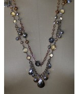 White House Black Market Necklace Faceted Beads and Crystals 29 Inch  - $37.97