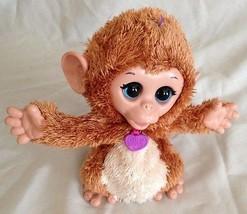 "FurReal Plush Brown 8"" Hasbro Talking Monkey with Moving Body - $20.75"