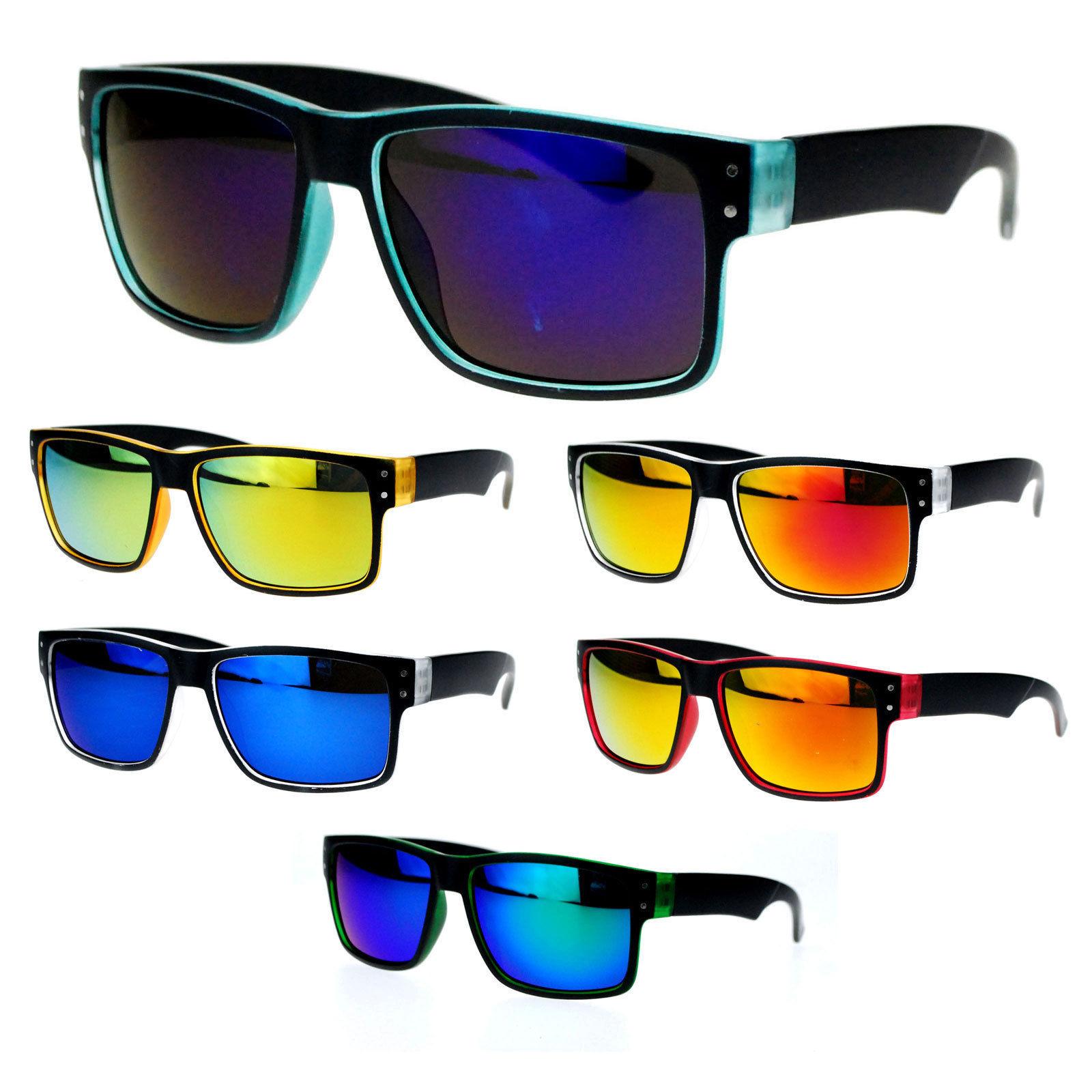 SA106 Lion Emblem Thick Plastic Mens Luxury Biker Sport Sunglasses