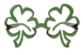 Oversized St Patricks Day Green Funky SHAMROCK GLASSES leprechaun Irish - $9.74