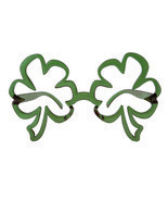 Oversized St Patricks Day Green Funky SHAMROCK GLASSES leprechaun Irish - $12.93 CAD