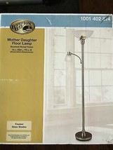 Hampton Bay Mother Daughter Floor Lamp brushed nickel finish - $46.14