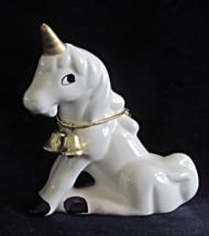 Pretty Vintage Baby Unicorn Figurine with Brass... - $18.00