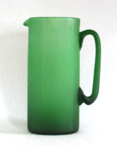 Rich Green Glass Pitcher - Vintage Colored Glassware Serving Decor - For... - $45.00