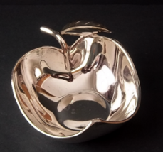 Silver Plated Apple Bowl - $45.00