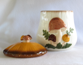 Extra Large Arnel's Mushroom Cookie Jar - Canister - 1970s Raised Relief... - $57.00