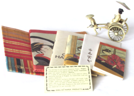 Vintage Asian Travel Accessories - Tour Guide Souvenirs - Billfold - Cre... - $75.00