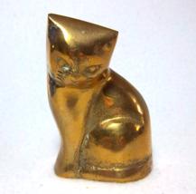 Brass Kitten Sculpture - Vintage Home Decor - $18.00