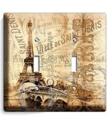 PARIS EIFFEL TOWER VITAGE POSTER DOUBLE LIGHT S... - $11.99