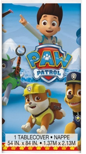 "Paw Patrol Tablecover 54"" x 84"" Plastic Nickelodeon Pups Dogs"