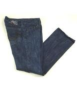 True Religion Denim Jeans Section Bobby Leather Applique Actual  W 32 L ... - $84.98
