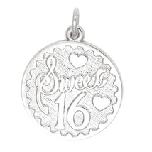 Sterling Silver Sweet 16 Charm Pendant - $29.92