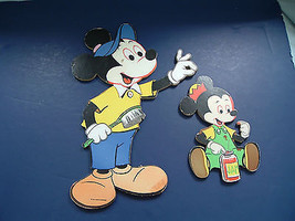 vintage dolly toy mickey mouse bath time cardbo... - $14.53