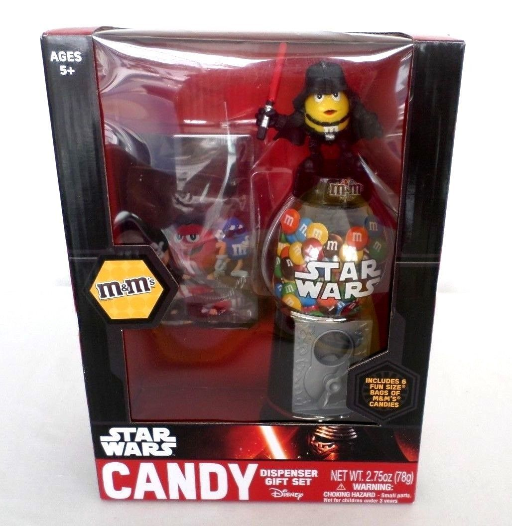 Disney Star Wars Yellow Darth Vader M & M Candy Dispenser Gift Set