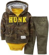 Carters Infant Boys  3pc Set Pants Outfit Set Camo Size- 12M NWT - $13.99