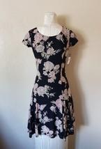 NWT WOMEN LAUREN Ralph Lauren Floral Lace Short Sleeves Dress size XS - $50.48