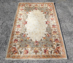 MOMENI Heavy Wool Tufted Rug Sage Green Floral ... - $222.74
