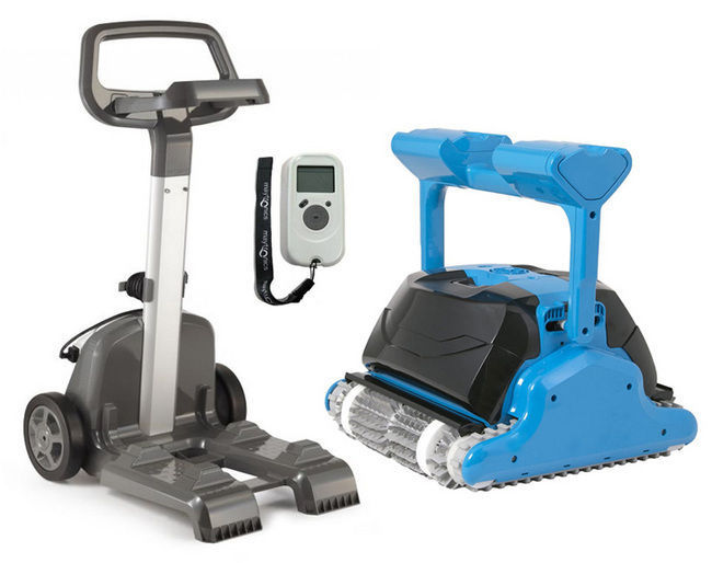 Maytronics Dolphin Triton Plus Cordless Robotic Pool Cleaner w/Caddy & Remote