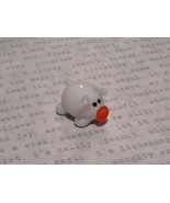 Mini Figurine Hand Blown Glass White Pig  Made in USA - $19.79
