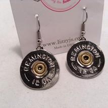 Lizzy J single dangle traditional silver spent shotgun shell cap earrings USA