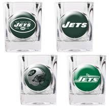 New York Jets 4 Piece Collector's Shot Glass Set  - $35.66