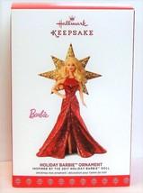 Holiday Barbie 2017 Hallmark Barbie Doll Ornament Series #3 Gold Star Re... - $22.90