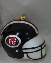 IU Glass Football Helment Christmas Ornament - $12.95