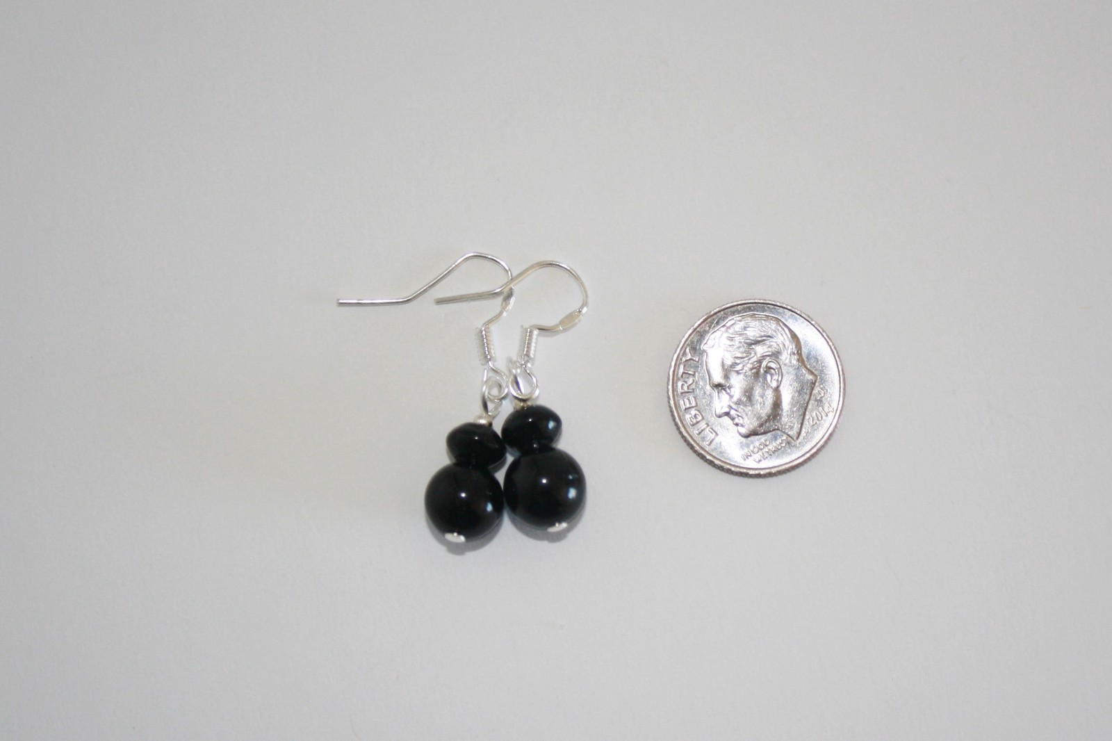 Rondelle and Tubular Onyx Necklace and Earring Set