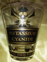 Georges Briard Name Your Poison SKULL & BONES POTASSIUM CYANIDE  RARE GLASS - $74.99