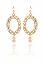 Trendy Women Fashion Vintage Indian Girl Gold Tone Dangle Earrings Gift - $4.99