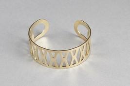 gold Kids cuff bracelet Girls cut out pattern m... - $7.42