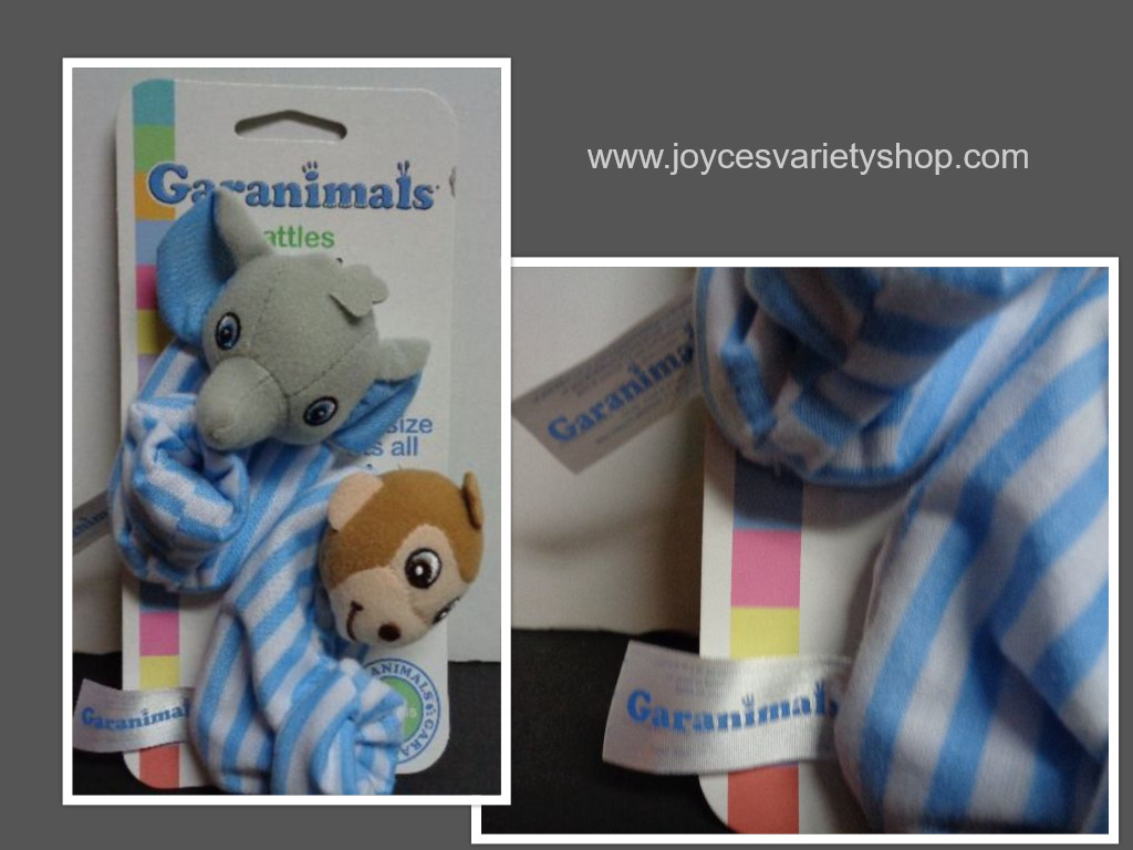 Blue garanimals baby rattle shoes collage