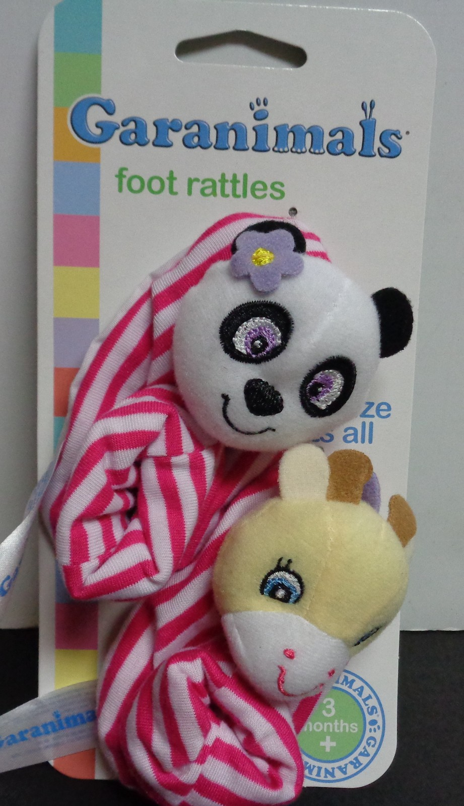 Garanimals Baby Rattle Booties Pink NWT 3 Months +