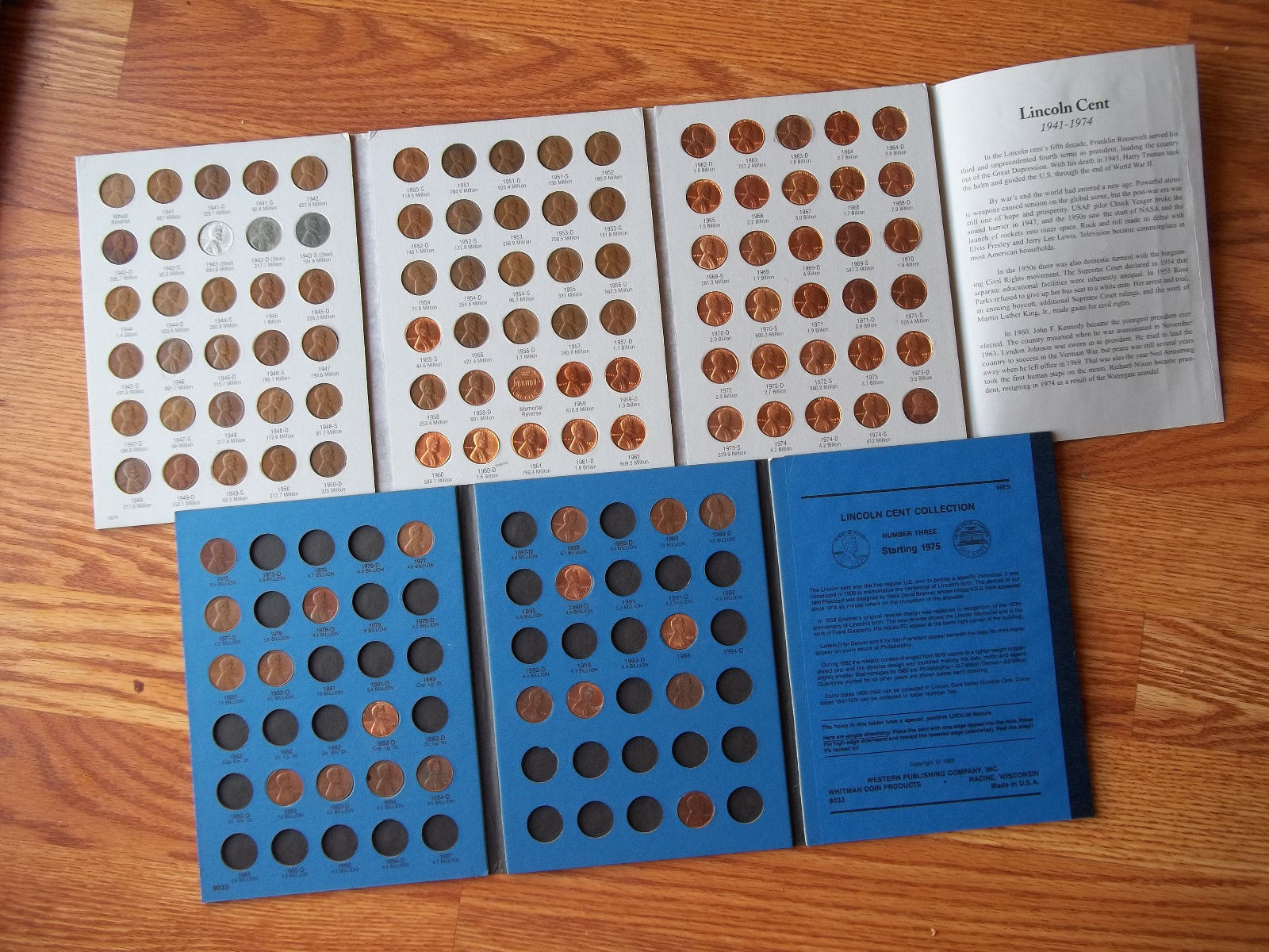 Lincoln Cent Collection 1941-1974 Coins Lincoln Cents Starting 1975 #3 20 Coins