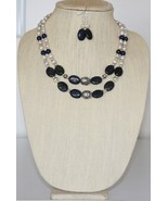 Copper Blue Jasper and Freshwater Pearl Necklace and Earrings Set - $49.00