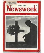 Newsweek Magazine Memorial Day 1946   June 3, 1946 - $14.84