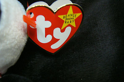 """Ty Original Beanie Baby """" Fortune """" Errors New !997 Retired Kept in Display Case image 4"""