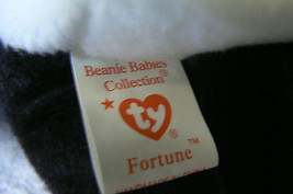 """Ty Original Beanie Baby """" Fortune """" Errors New !997 Retired Kept in Display Case image 7"""