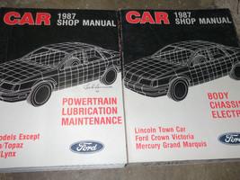 1987 Ford Crown Victoria & Mercury Grand Marquis Service Shop Repair Man... - $98.99