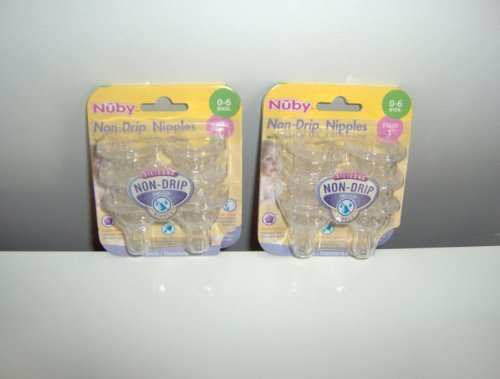 Primary image for 12 Nuby Non Drip Nipples - 2 Sets of 6 Packs (12 Nipples)